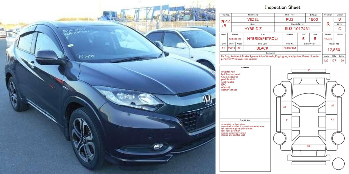 Top 5 Details on Car Auction Sheet